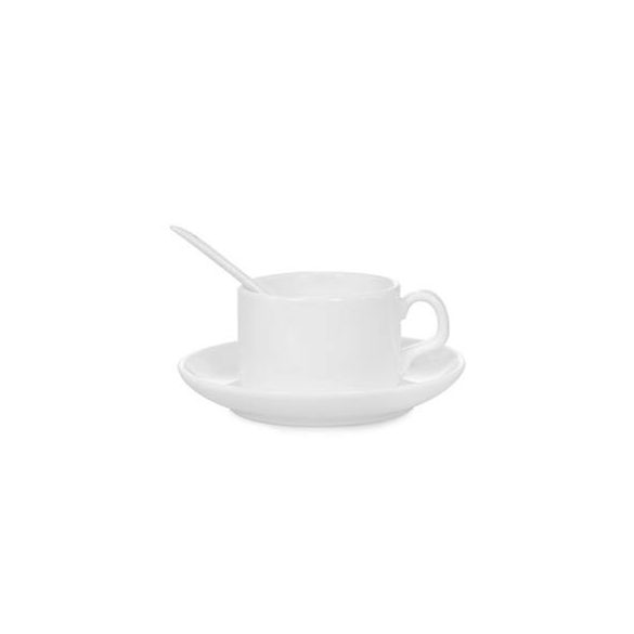 Kávéscsésze tányérral és kanállaltányérral és kanállal