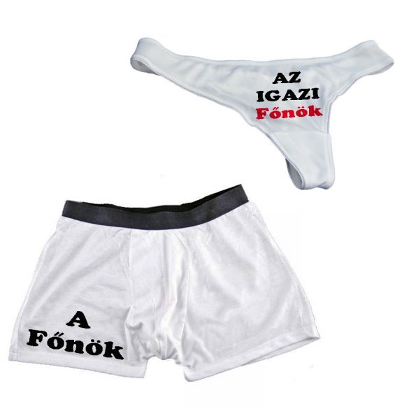 Páros Fehérnemű  (tanga és boxer)