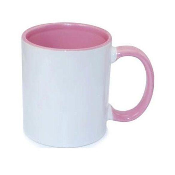 Egyedi Bögre Rózsaszín Belsővel és Füllel