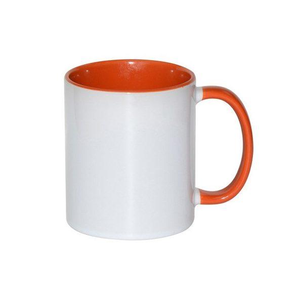 Egyedi Bögre Narancssárga Belsővel és Füllel