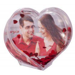 Szív alakú hógömb