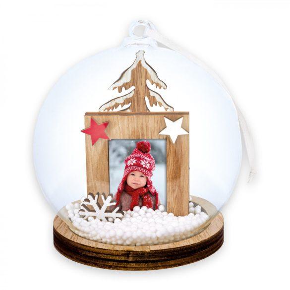 Kicsi Csillagos Hógömb / Karácsonyfadísz