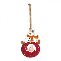 Kicsi Piros Hóemberes Fa Karácsonyfadísz