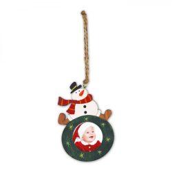 Kicsi Zöld Hóemberes Fa Karácsonyfadísz