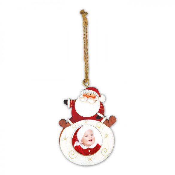 Kicsi Fehér Télapós Fa Karácsonyfadísz