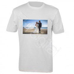 Fényképes fehér póló